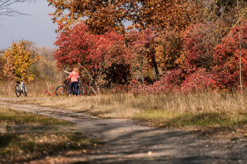 Warm and sunny autumn in Kiev, Ukraine.  stock image