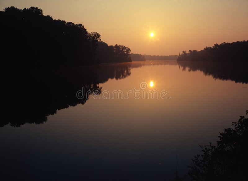 Download Warm Sunrise stock photo. Image of horizon, bright, color - 2032448
