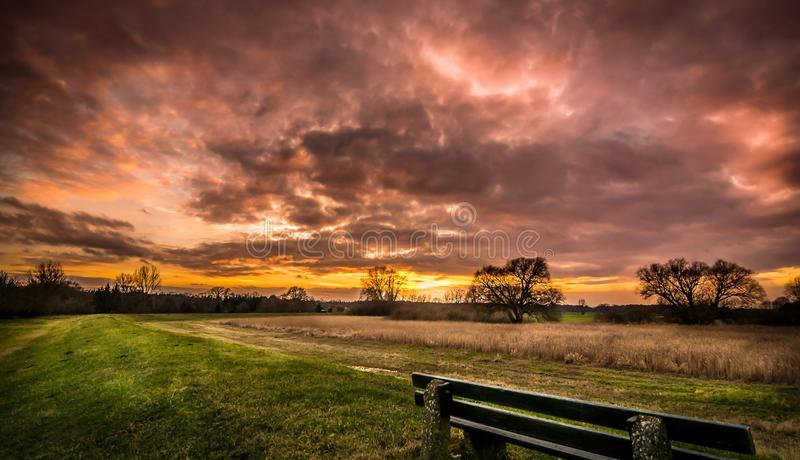 Download A warm sunset sunrise stock photo. Image of colourful - 36682762