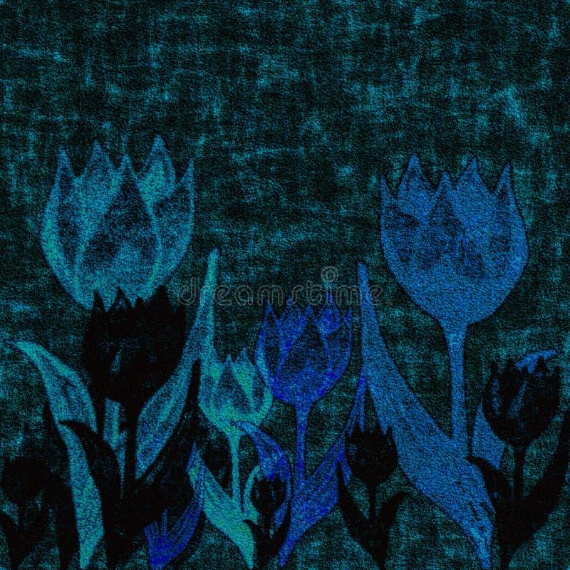 Fabric with tulip flowers. stock photos