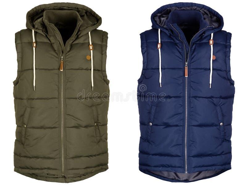 Warm vest twee met kap stock fotografie