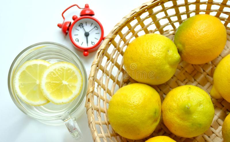 Download Warm Water And Lemon For Breakfast Stock Photo - Image: 29049748