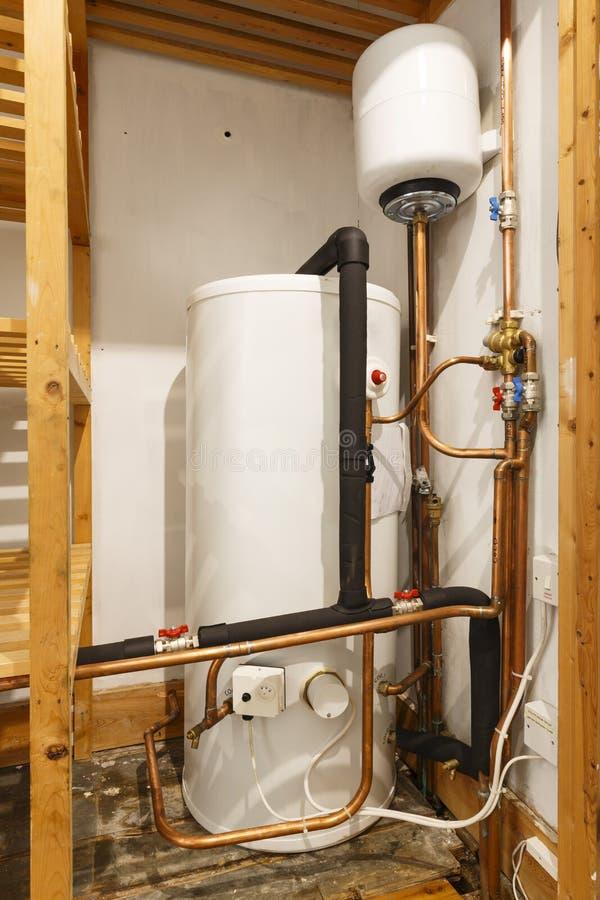 Warm watercilinder stock foto