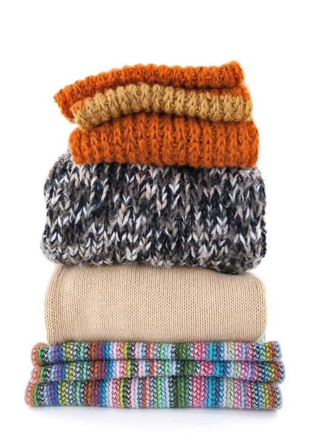 Warm wool clothing stock photo