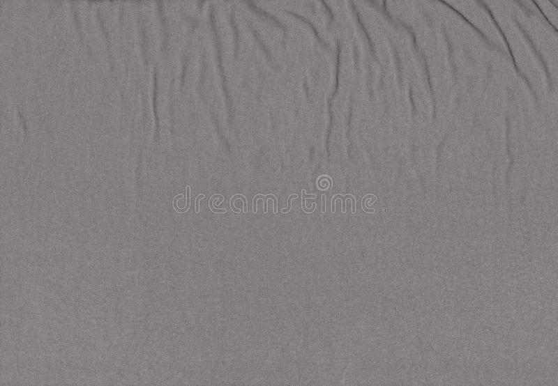 Cotton gray texture. Real heather grey knitted fabric stock photo