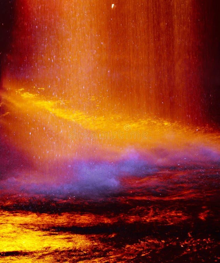 Warme abstrakte Farben