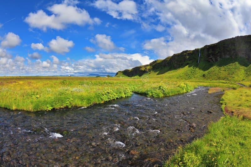 Warme dagen in IJsland stock fotografie