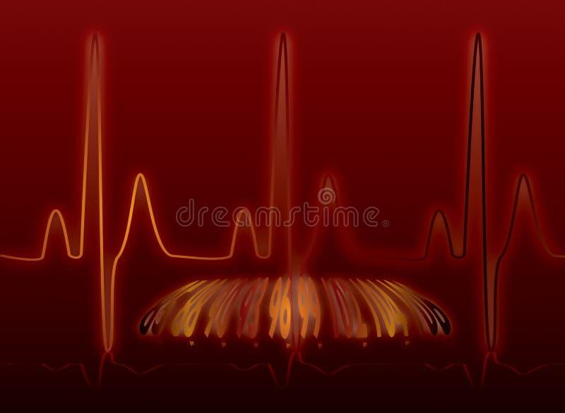 Warme de gloed van de hartslag royalty-vrije illustratie