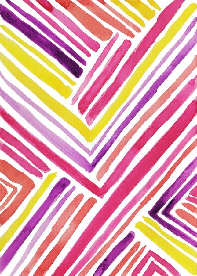 Warme de waterverfachtergrond van de toon diagonale strook stock illustratie