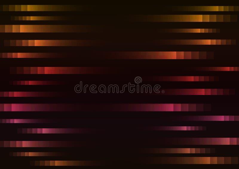 Warme Farbe des abstrakten Pixelgeschwindigkeitshintergrundes stock abbildung