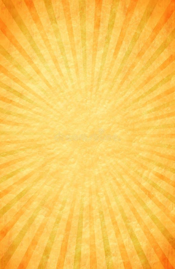 Warme Gekleurd, Retro achtergrond van de Uitbarsting vector illustratie