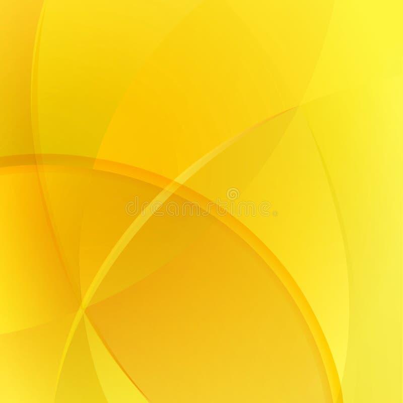 Warme gele achtergrond royalty-vrije illustratie