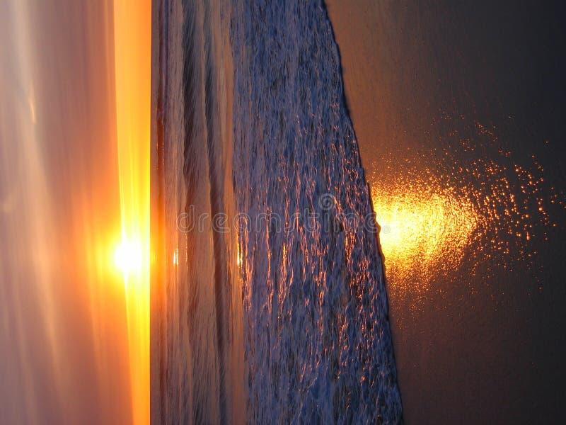 Warme, Gele Zonsondergang royalty-vrije stock afbeeldingen