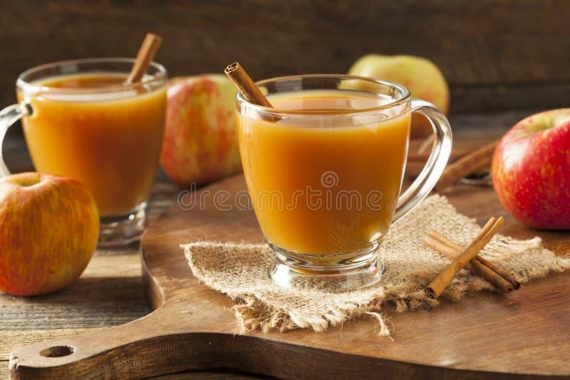 Warme Hete Apple-Cider stock afbeelding