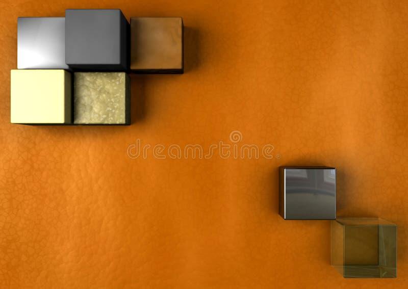 Warme moderne Würfel-Auslegung stockfotos