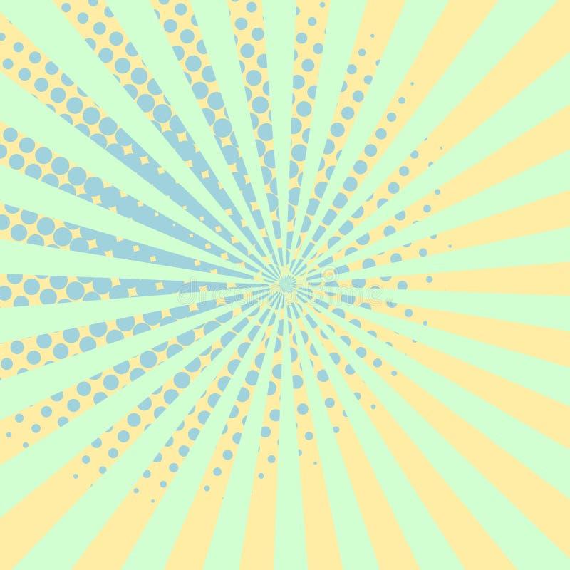 Warme oranje pop-art retro grappige halftone bevlekte vector als achtergrond vector illustratie