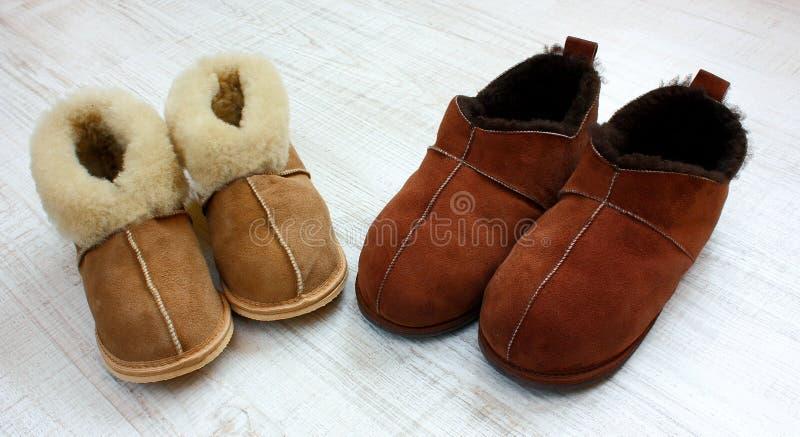 Warme pantoffels royalty-vrije stock afbeelding