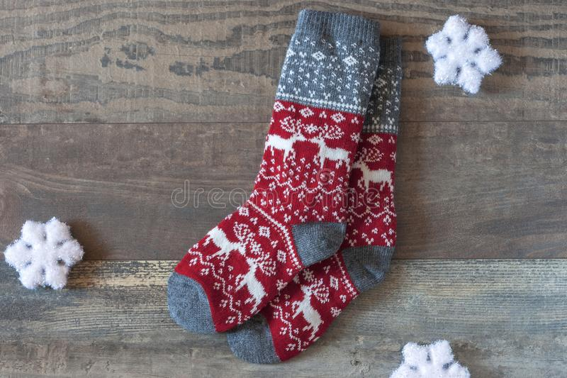 Warme sokken royalty-vrije stock afbeelding