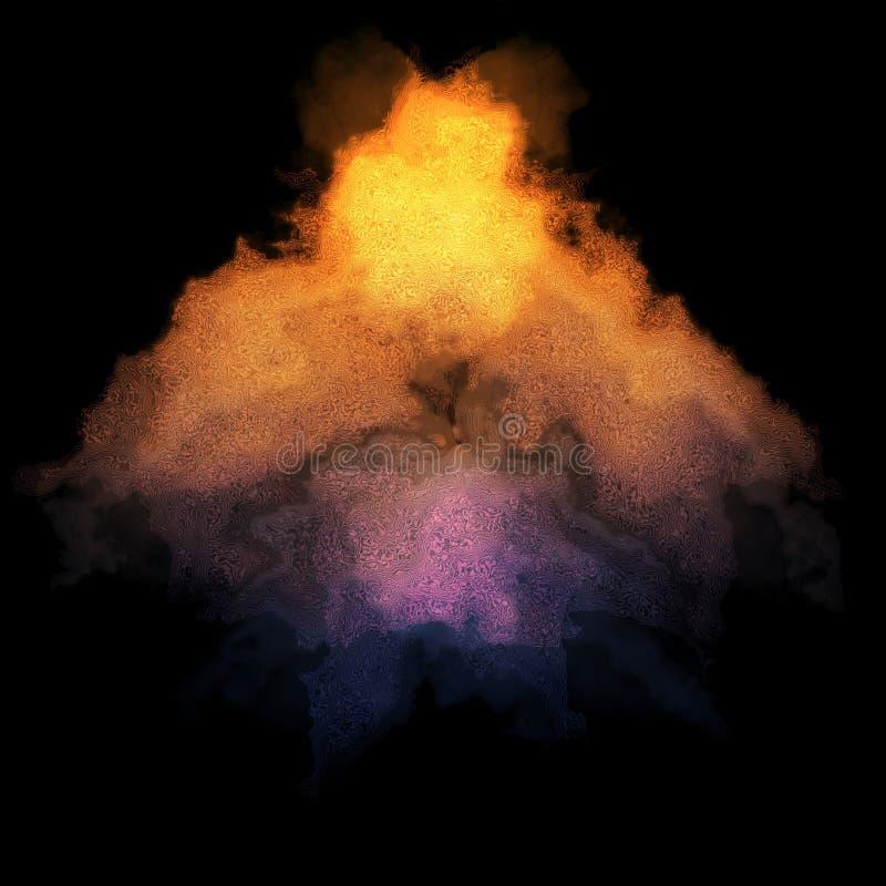 Warme und kühle Pfeilwolke stock abbildung
