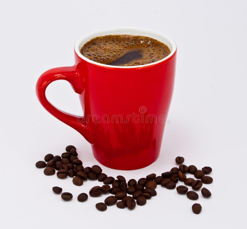 Warmer Morgenkaffee, wachend mit Kaffee auf stockbild