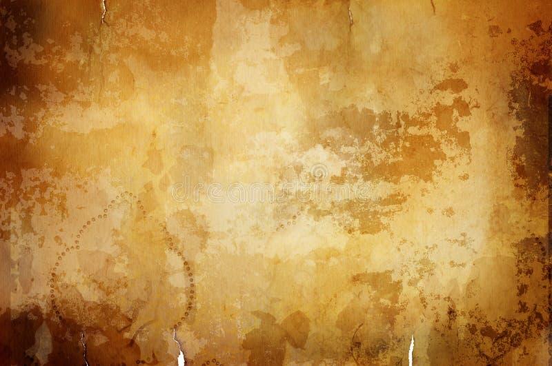 Warmer Weinlesehintergrund mit dunklem Rand stockbilder