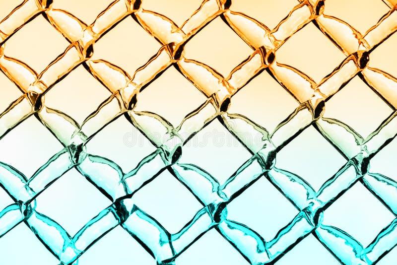 Warmes und kühles Eis Diamond Pattern Background stockfoto