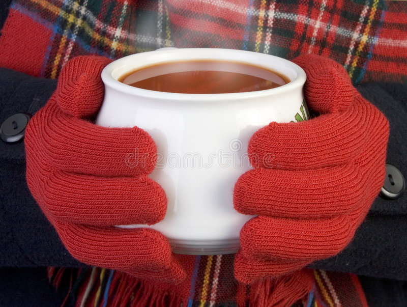 Warming Cup Of Soup Stock Photo