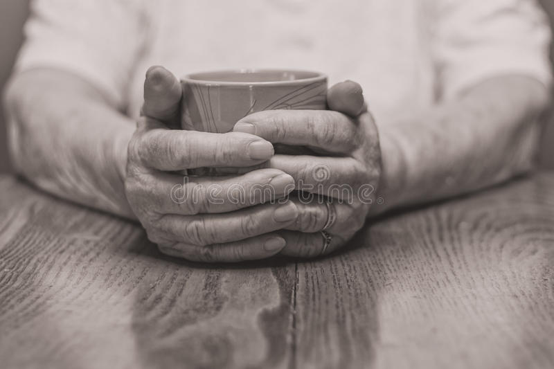 Warming Hands stock image
