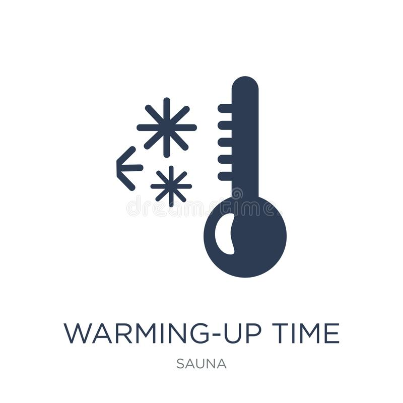 Warming-up time icon. Trendy flat vector Warming-up time icon on. White background from sauna collection, vector illustration can be use for web and mobile stock illustration