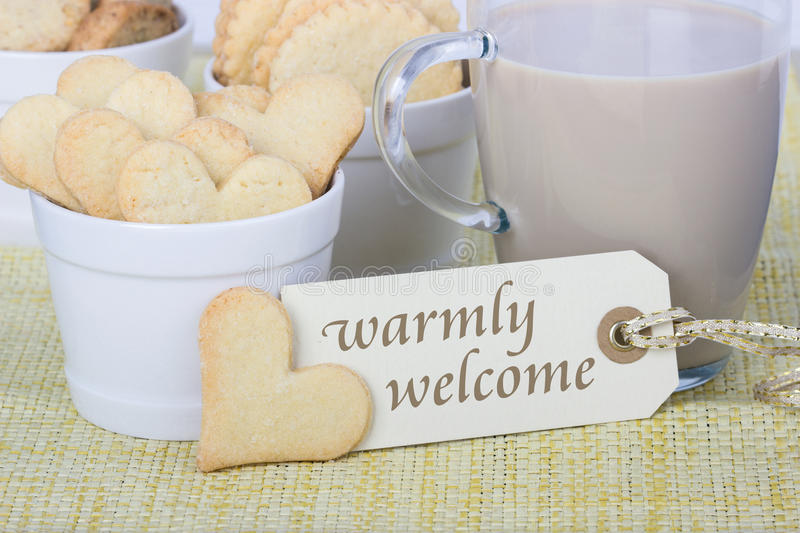 Warmly welcome royalty free stock image