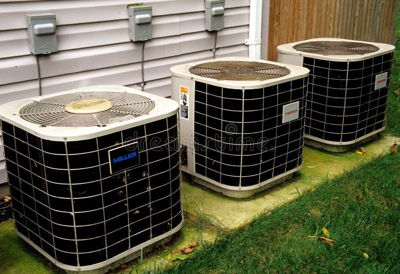 Warmtepompen en Airconditioners royalty-vrije stock foto's