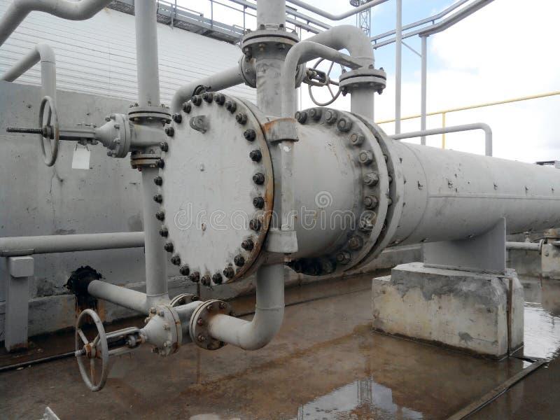 Warmtewisselaars voor het verwarmen van olie stock foto