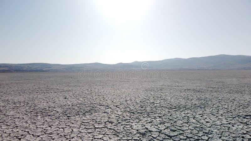Warmtewoestijn, droge meerbodem royalty-vrije stock afbeelding