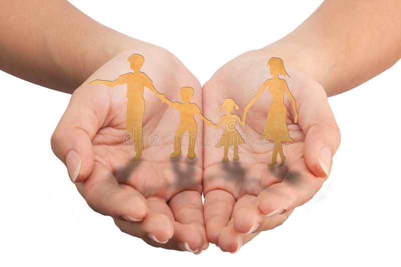 Warmth family concept. Make for cut out of paper on wood texture royalty free stock image