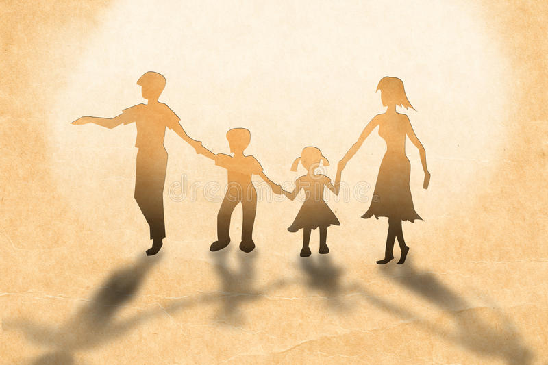 Warmth family concept. Make for cut out of paper on wood texture royalty free stock images
