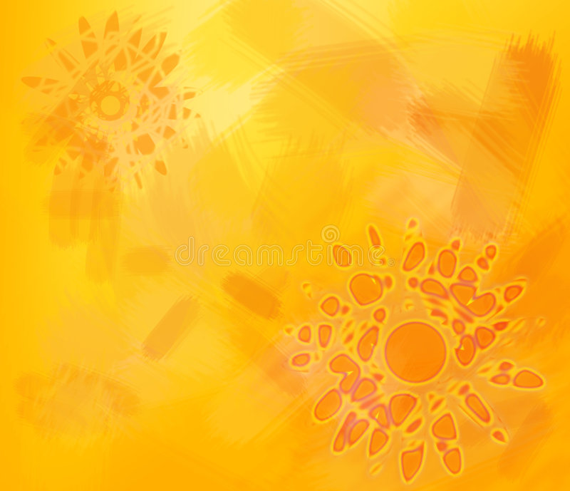 The warmth of the sun royalty free illustration