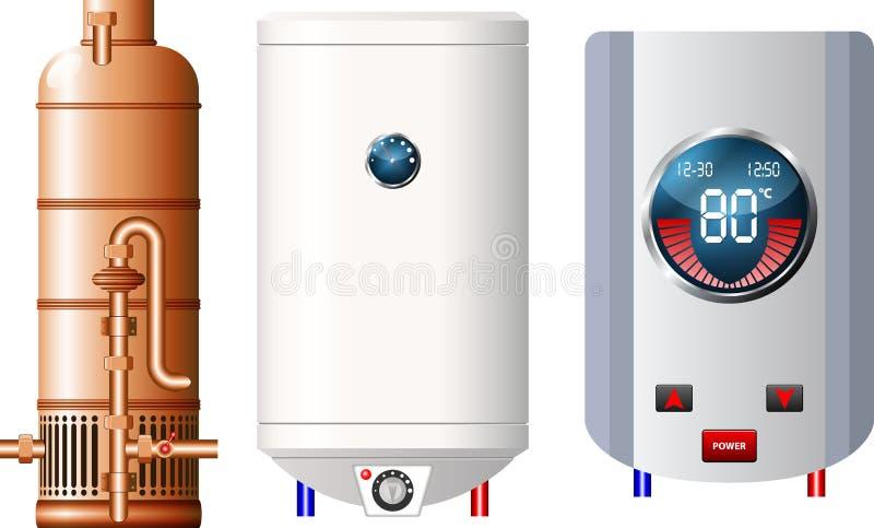 Warmwasserbereiter lizenzfreie abbildung