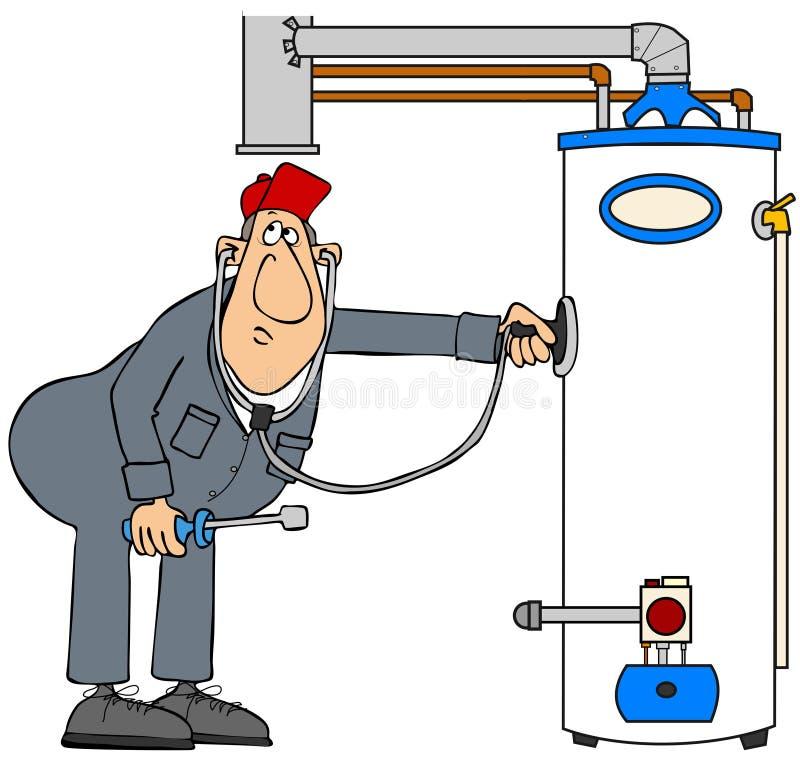 Warmwasserbereiter stock abbildung
