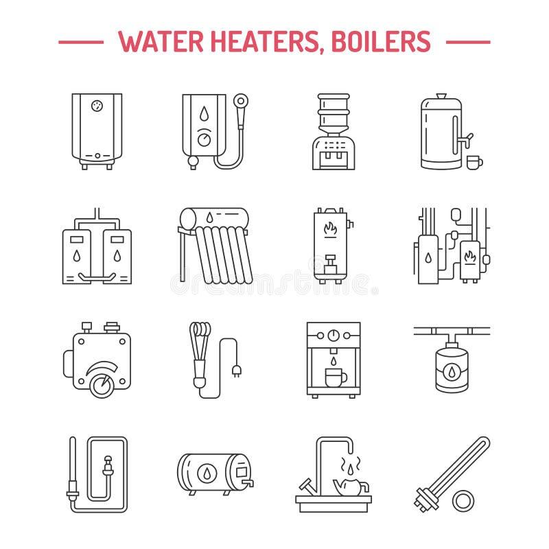 Warmwasserboiler, Thermostat, Solarheizungen Des Elektrischen Gases ...