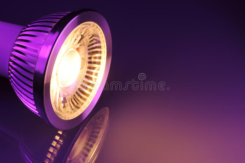 Warmwhite COB-LED imagem de stock