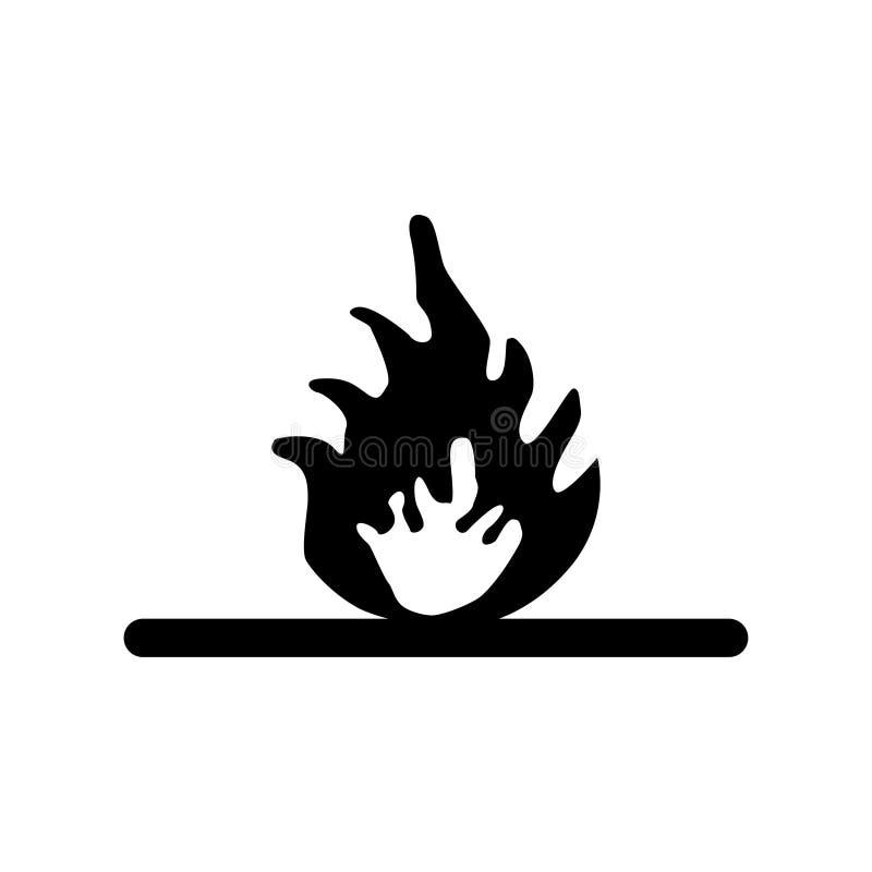Warnen gegen weißen Hintergrund der Brandgefahr lizenzfreie abbildung