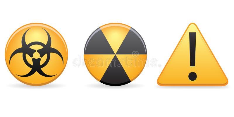 Warnende Ikonen lizenzfreie abbildung