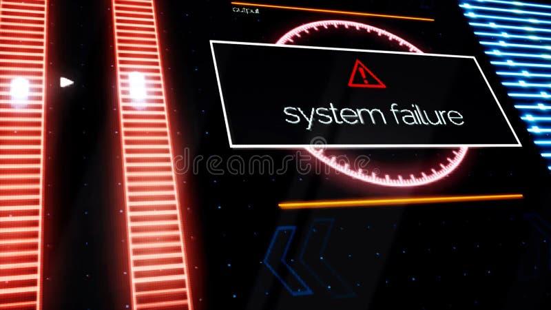 Warnende Mitteilungen alle über dem Schirm, Sicherheitswarnungskonzept des Programmausfalls animation Computermonitorvertretung vektor abbildung