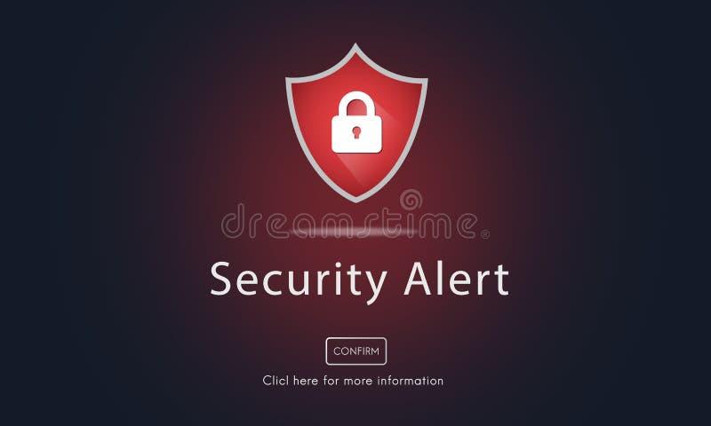 Warnende Sicherheitswarnungs-Warnung gesichertes Website-Konzept vektor abbildung
