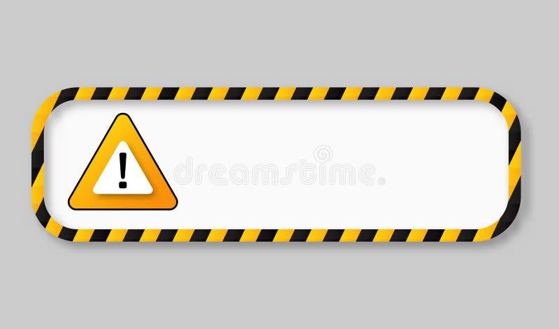 Warnender Fahnenrahmen des Vorsichtbands stock abbildung