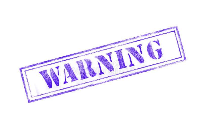 ` warnender ` Stempel über einem weißen Hintergrund vektor abbildung