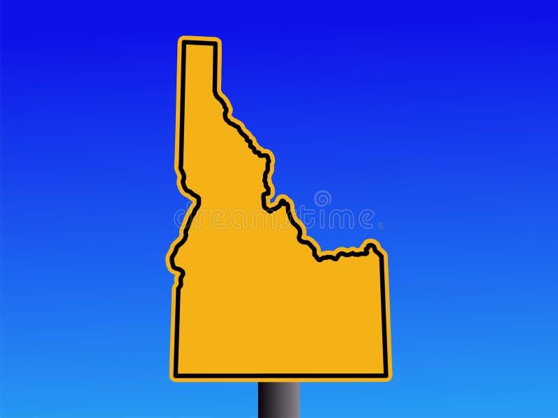 Warnendes Idaho-Zeichen lizenzfreie abbildung