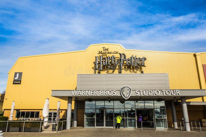 Warner braci Pracowniana wycieczka turysyczna 'robić Harry Poter' fotografia royalty free