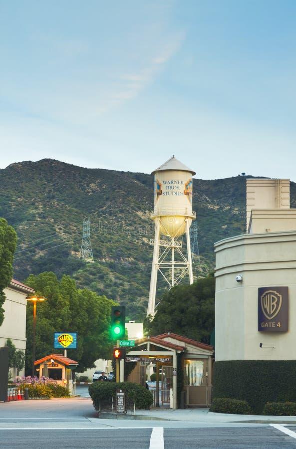 Warner- Bros.filmbildstudio stockfotos