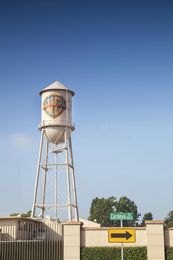 Warner Bros. Filmu studio w L.A. fotografia stock